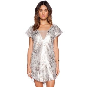 Free People Midnight Dreamer sequin dress NWT S